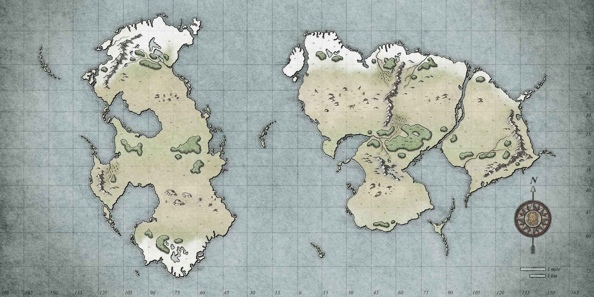 Step 11 - Adding colors to your fantasy map