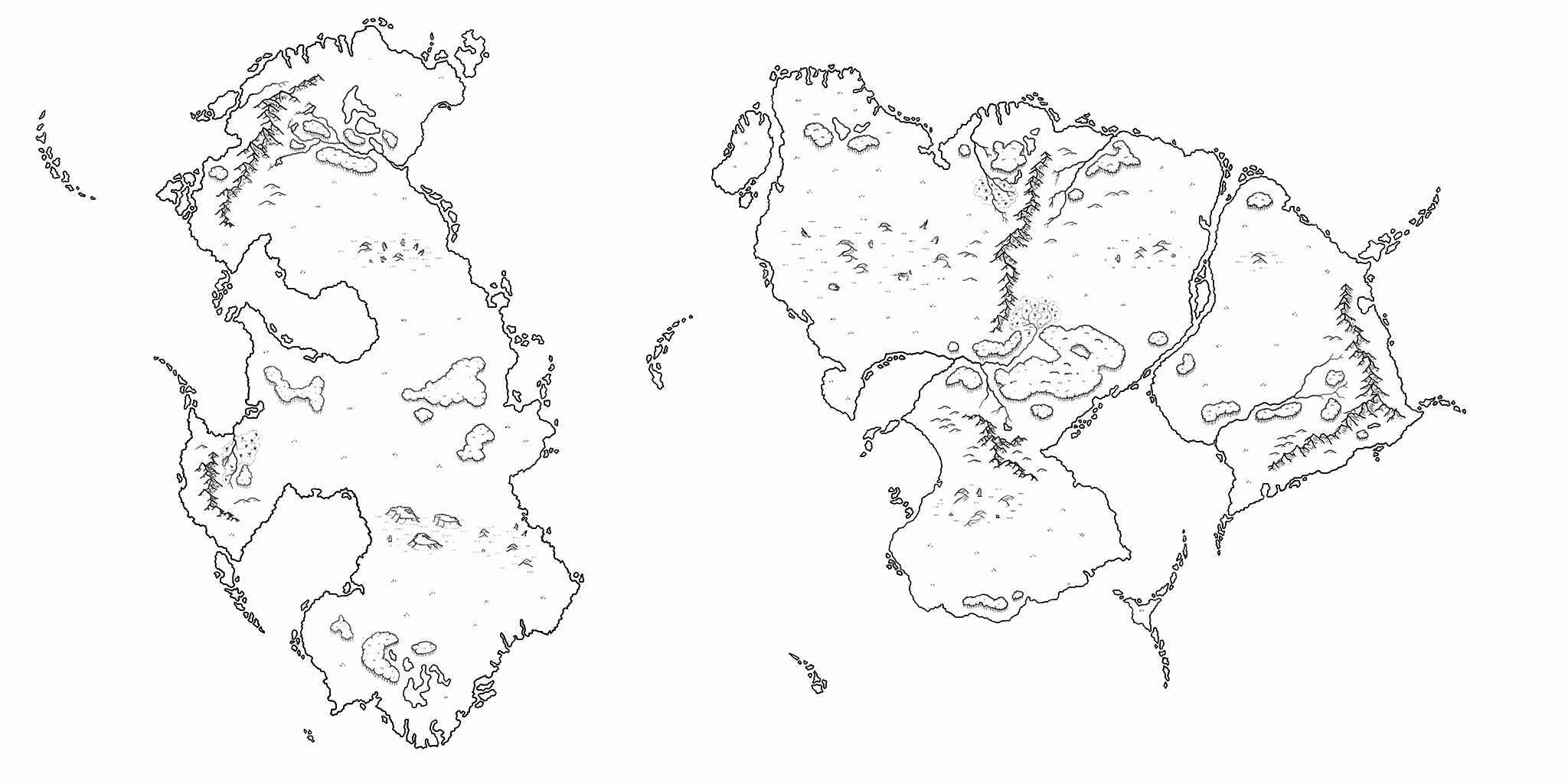 how to draw forests on a map