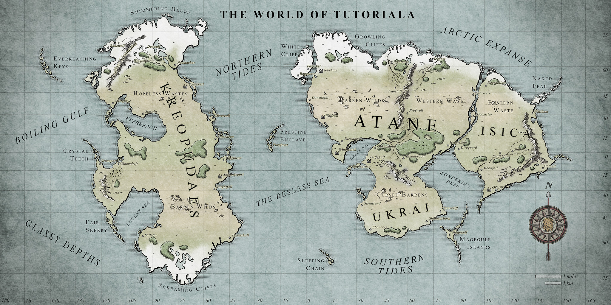 Custom map for fantasy world
