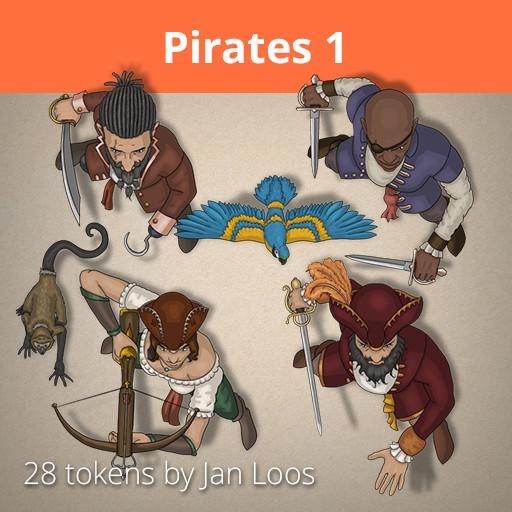 Jan Loos token set Pirates 1