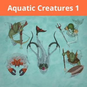 Jan Loos Aquatic Creatures tokens roll20