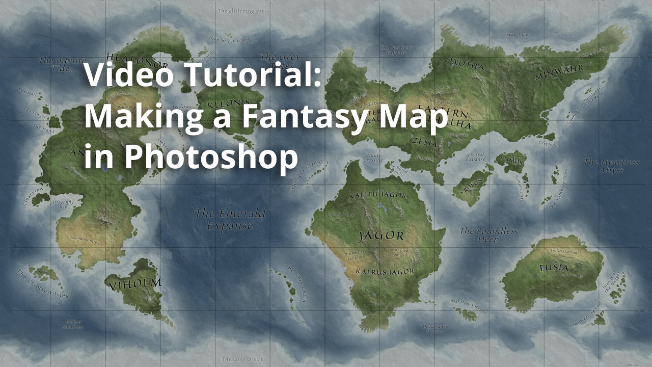 Video tutorial making a fantasy map in photoshop gumiabroncs Images