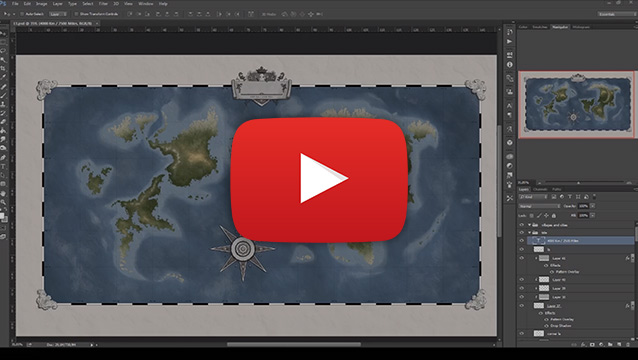 Fantasy World Map Timelapse