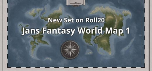 Fantasy World Map for roll 20