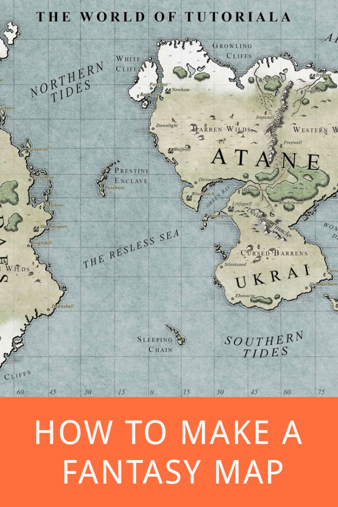 Pinterest How to make a Fantasy Map