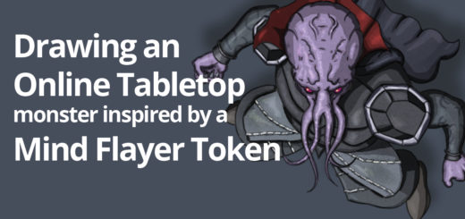 How to draw Roll20 token Mind Flayer inspired monster